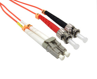 LC-ST Duplex Multi Mode 50/125 Fiber Optic Patch Cable