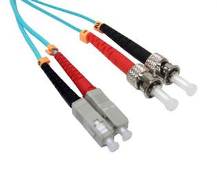 SC-ST Duplex Multi Mode 50/125 OM3 Fiber Optic Patch Cable 10 Gig