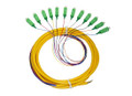 12S SM Fiber Optic Pigtail 3M SC/APC Angle-Polished