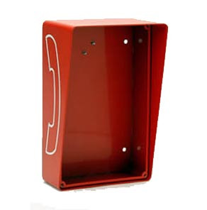 Outdoor Open Style Telephone Enclosure Red 331-HOB-R