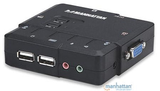 151252 2 Port Mini KVM Switch with Cables and Audio