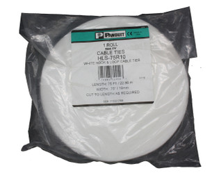 "Panduit Tak-Ty .75"" x 75' Hook and Loop Cable Ties White"