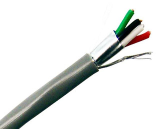 22/4 Low Voltage Security and Power Cable PVC Stranded Shielded 1000'