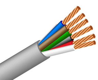 22/6 Low Voltage Security and Power Cable PVC Stranded 1000'