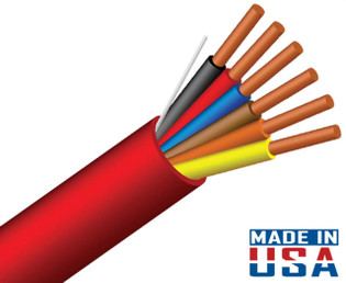 18/6 Fire Alarm Cable FPLP Unshielded 1000' Red