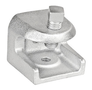 "Malleable Iron Beam Clamp With 7/8"" Jaw Opening 1/4-20 Threaded Holes"