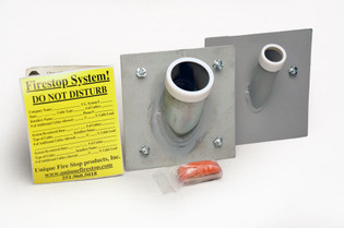 Membrane Firestop Sleeve for Firewall Installation