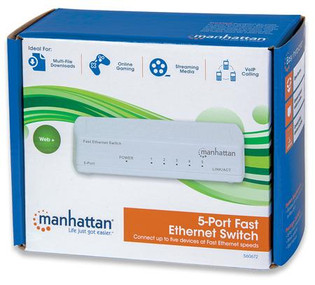 5 Port Fast Ethernet Switch 10/100