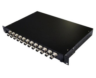 24 Port Rack Mount Fiber Enclosure Pre-Loaded with SC 10G OM3 MM Connectors