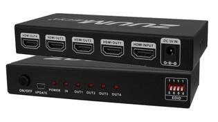 HDMI 1 In 4 Out Distribution Amplifier Splitter (3D) 4K x 2K HSP1X4-4K