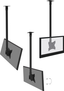 Ceiling Mount LED LCD TV Head Bracket 200x200
