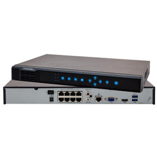 Uniview NVR202EP 8 Channel 8 POE 2 HDDs up to 12TB 64Mbps Network Video Recorder
