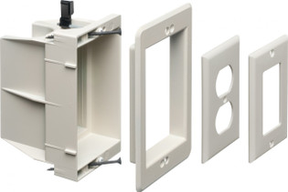 DVFR1W Single Gang Indoor Recessed Box Power or Low Voltage