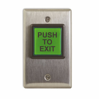 Illuminated Push To Exit Button Access Control English CM-30E
