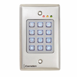 Flush Mount Wireless Access Control Keypad Outdoor Vandal Resistant CM-120TX