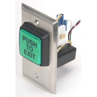 Illuminated Push To Exit Button Access Control English with Electronic Timer CM-30EE