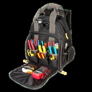 Tech Gear 53 Pocket LED Lighted Backpack Tool Bag