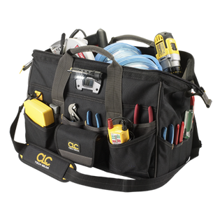 "Tech Gear 45 Pocket LED Lighted 18"" MegaMouth Tool Bag"
