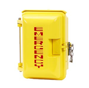 Cast Aluminum Weatherproof Enclosure with EMERGENCY on Door Yellow 331-005-Y