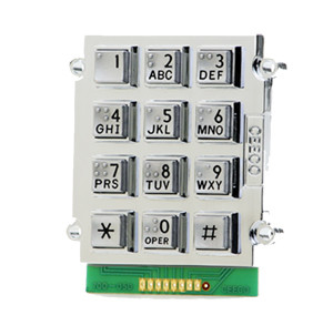 Alphanumeric Braille Satin Chrome Stud Mount Keypad 705-200