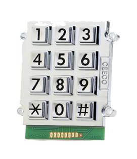 Large Number Bright Chrome Stud Mount Keypad 705-103