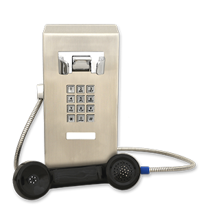 Stainless Steel Surface Mount Wall Telephone with Keypad SSW-321-F