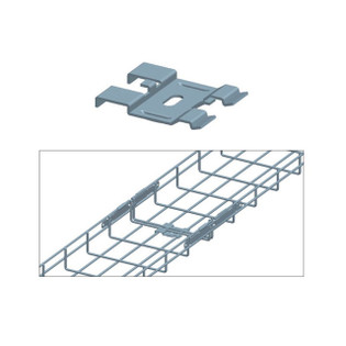 Cable Tray Bottom Coupler Zinc