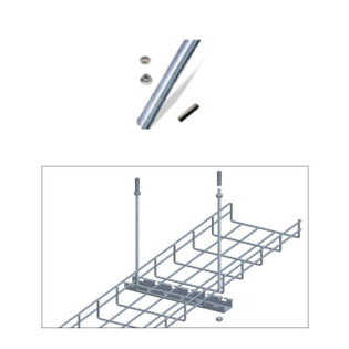 Cable Tray 3FT Screw Rod with Cemment Wall Anchor Kit