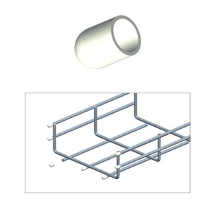 Cable Tray Rubber End Cap White