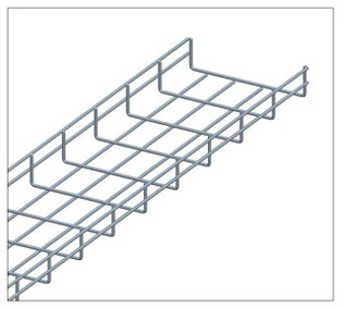 10FT Wire Mesh Cable Tray 12in W x 2in H Zinc CT1012-03