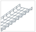 5FT Wire Mesh Cable Tray 4in W x 2in H Zinc CT0504-03