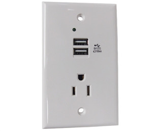USB Charging In-Wall Outlet and Power Outlet