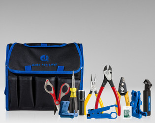 Fiber Optic Tool Prep Kit with Strippers Slitter Kevlar Scissors