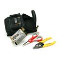 Fiber Optic Starter Tool Kit Stripper Scissor Pouch