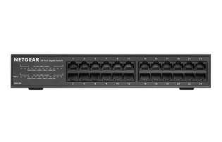 24 Port Gigabit Ethernet Switch Desk Wall or Rackmount GS324
