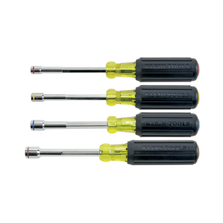 Klein 4 Piece Hollow Handle Heavy Duty Magnetic Nut Driver Set