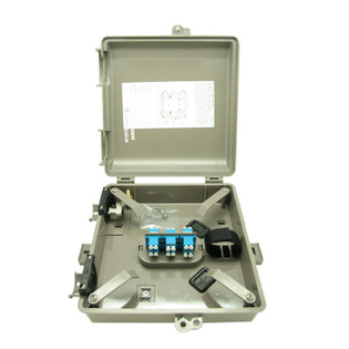 Outdoor Fiber Distribution Box 6 Duplex LC MM OM3 12 Fiber