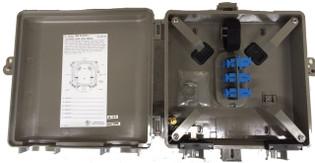 Outdoor Fiber Distribution Box 6 Duplex LC SM UPC 12 Fiber