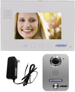 "Video Intercom System Wired Kit 7"" Monitor 1 Button Door Station VK237WS"