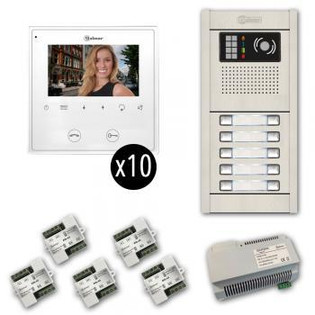 GB2 Video Intercom Kits with Flush Entry Panel