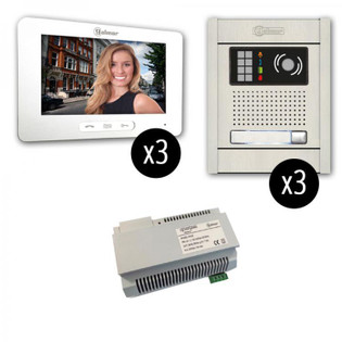 GB2-7 Touchscreen 3 x 3 Video Intercom Entry System Flush Mount