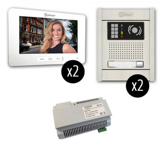GB2-7 Touchscreen 2 x 2 Video Intercom Entry System Surface Mount