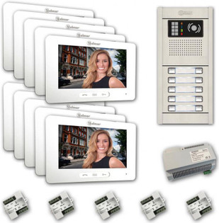 GB2-7 Touchscreen Video Intercom Entry System