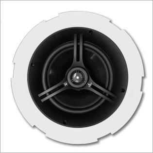 "6.5"" 2 Way Coaxial Ceiling Infinite Baffle Loudspeaker Woven Carbon Fiber Pair CS654FL"