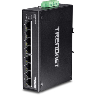 8 Port Hardened Industrial Gigabit DIN-Rail Switch