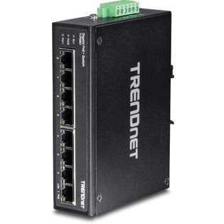8 Port Hardened Industrial Gigabit PoE+ DIN Rail Switch TI-PG80