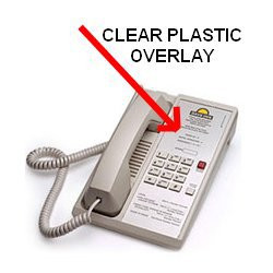 Teledex Diamond Clear Plastic Overlays 25 Per Pack