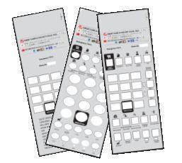 50 Telematrix 3100 3300 9600 Custom Paper Faceplate Printing