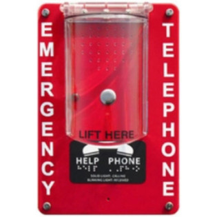 RCB2100NRCOV Area of Refuge NEMA-4 Fiberglass Enclosure Remote with Protective Cover 24V Power