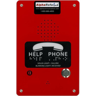 RCB2100RR Area of Refuge Call Box Remote Power Red 24V Power